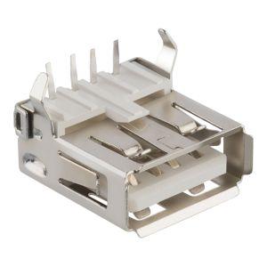 Jack USB para soldar, sin cubierta