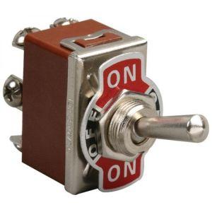 Switch de palanca 2 polos, 2 tiros, 3 posiciones, 15 Amperes