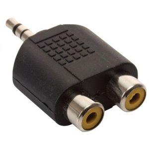 Adaptador de plug 3,5 mm a 2 jacks RCA, estéreo