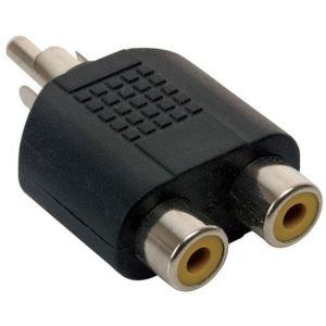 Adaptador de plug RCA a 2 jacks RCA
