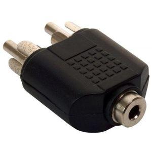 Adaptador de 2 plugs RCA a jack 3,5 mm, estéreo