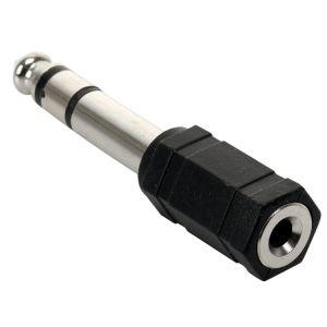 Adaptador de plug 6,3 mm a jack 3,5 mm, estéreo
