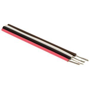 Cable estañado para conexiones, en color rojo, calibre 22 AWG