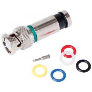 Conector macho BNC tipo PermaSeal-II™ para cable RG6