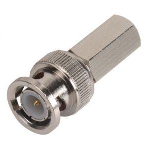 Conector macho tipo BNC de enroscar, para cables RG59 y RG62