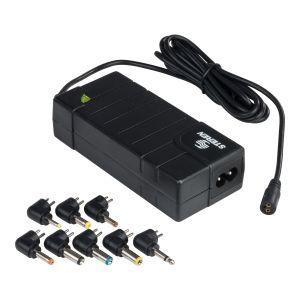 Adaptador de voltaje regulado de 24 Vcc, 2 A con puntas intercambiables
