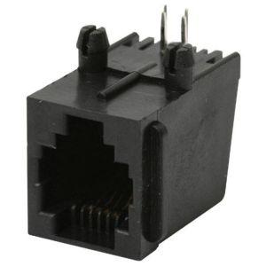 Jack RJ11 de 4 toma corrientes para circuito impreso