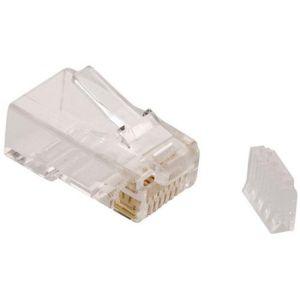 Plug RJ45 de 8 toma corrientes CAT 6, para cable redondo.