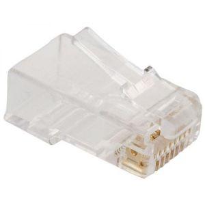 Plug RJ45 de 8 toma corrientes CAT 5e, para cable redondo