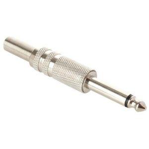 Plug 6,3 mm monoaural, metálico