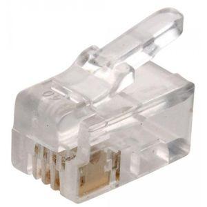 Plug telefónico modular RJ9, de 4 toma corrientes