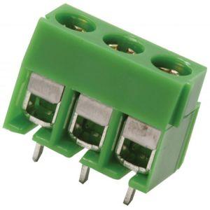 Terminal chica con 3 tornillos, para circuito impreso