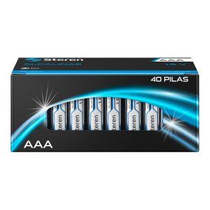 "Paquete de 40 baterias alcalinas ""AAA"""