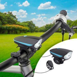 Linterna y claxon para bicicleta