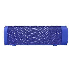 Bocina Bluetooth* mini SoundBar con acabado textil azul