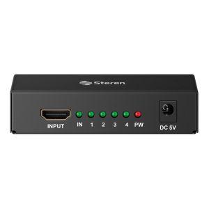 Divisor con amplificador HDMI Full HD de 4 salidas