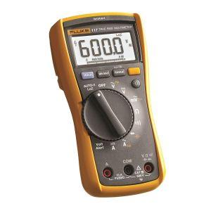 Multímetro digital para electricistas Fluke 117 con detector de voltaje sin contacto