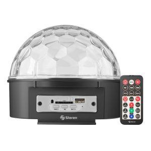 Esfera LED audio rítmica con bocinas y reproductor USB/SD