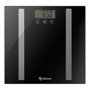 Báscula digital con análisis corporal, hasta 150 kg