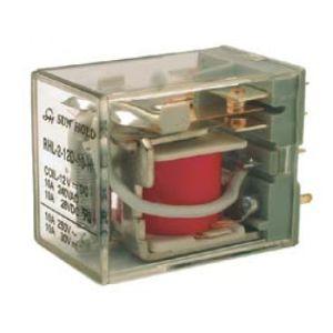 Relevador de poder de 2 polos, 2 tiros (DPDT) y bobina de 12 Vcc