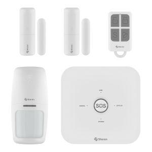 Sistema de seguridad Wi-Fi* con alarma, 3 sensores y control remoto