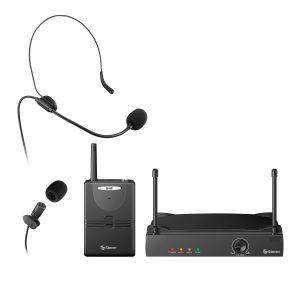 Micrófono inalámbrico profesional UHF de solapa o nuca, hasta 40 m de alcance